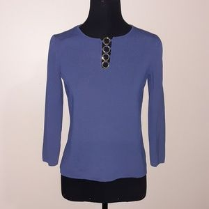 Cable & Gauge Blue Crew Neck Sweater Sz S